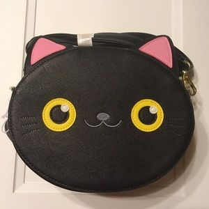 Loungefly Black Cat Face Crossbody Bag